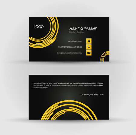 Set of modern vector business card template - front and back side Stock Vector - 27458161