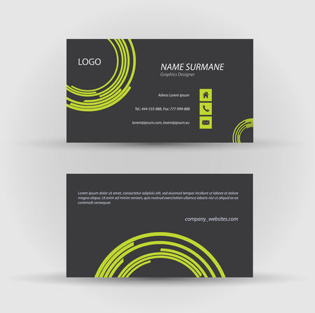 Set of modern vector business card template - front and back side Stock Vector - 27458164