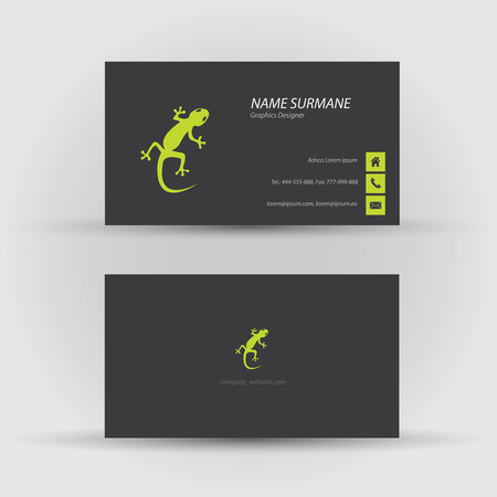 Set of modern vector business card template - front and back side Stock Vector - 27457897
