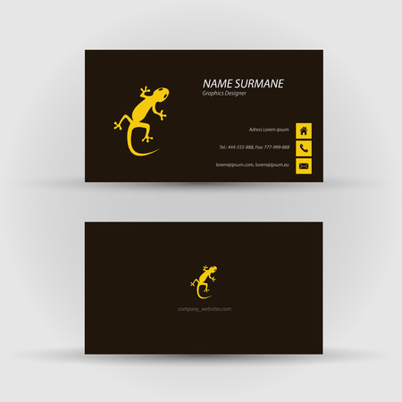Set of modern vector business card template - front and back side Stock Vector - 27457899