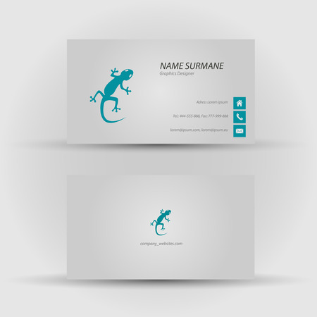 Set of modern vector business card template - front and back side Stock Vector - 27457900