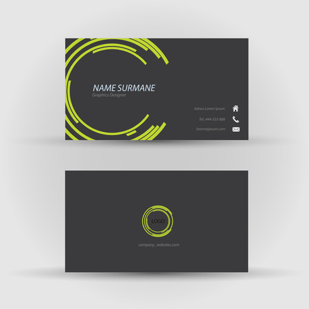 Set of modern vector business card template - front and back side Stock Vector - 27460721