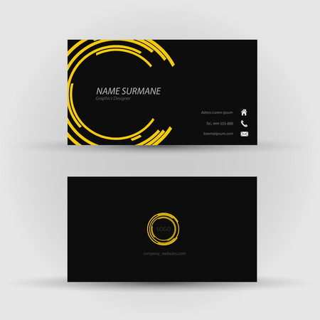 Set of modern vector business card template - front and back side Stock Vector - 27460723