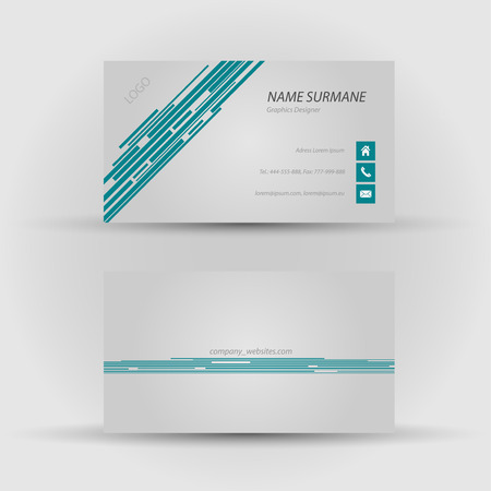 Set of modern vector business card template - front and back side Stock Vector - 27455478