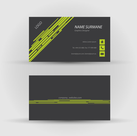 Set of modern vector business card template - front and back side Stock Vector - 27455480