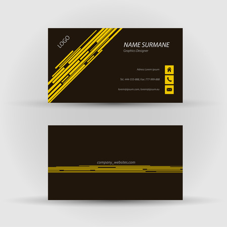Set of modern vector business card template - front and back side Stock Vector - 27455484