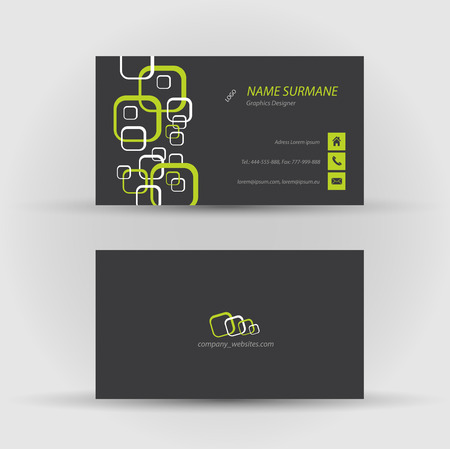 Set of modern vector business card template - front and back side Stock Vector - 27460535