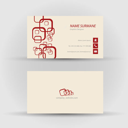 Set of modern vector business card template - front and back side Stock Vector - 27460540