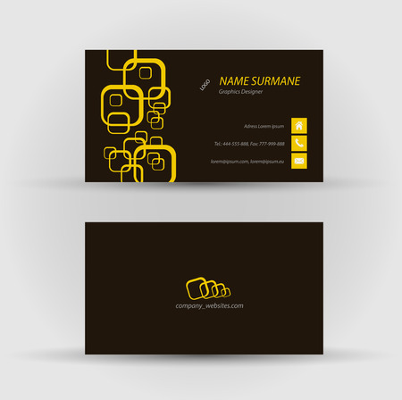 Set of modern vector business card template - front and back side Stock Vector - 27460543