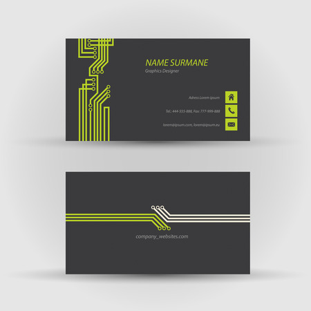 Set of modern vector business card template - front and back side Stock Vector - 27552887