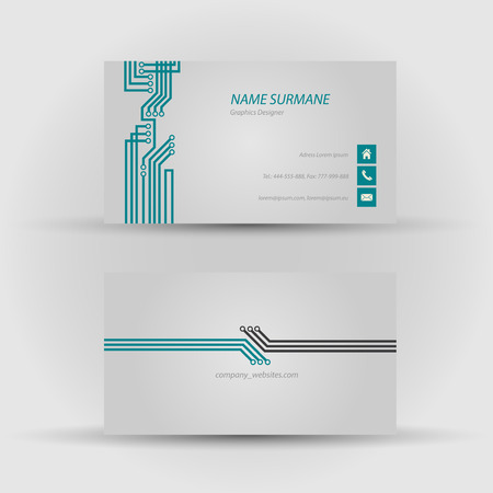 Set of modern vector business card template - front and back side Stock Vector - 27552888