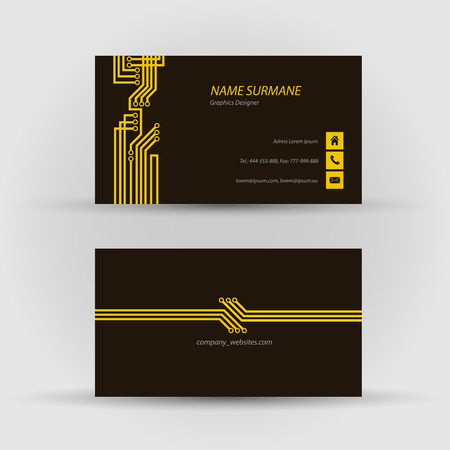 Set of modern vector business card template - front and back side Stock Vector - 27552890