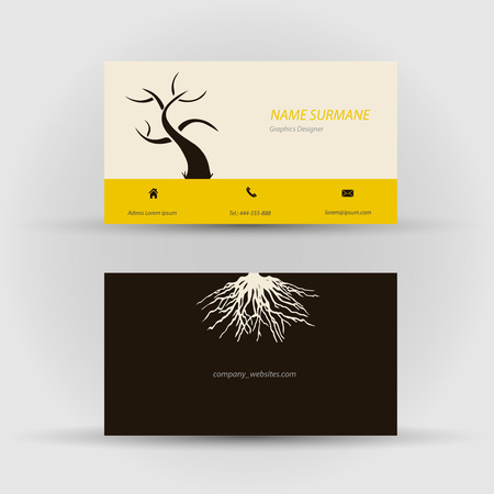 Set of modern vector business card template - front and back side Stock Vector - 27552891