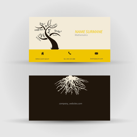 Set of modern vector business card template - front and back side Stock Vector - 27552892