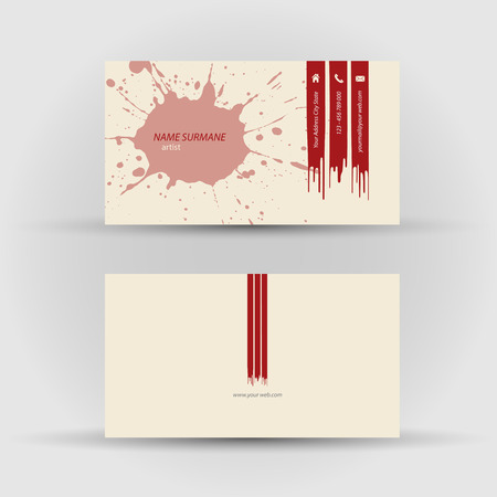 Set of modern vector business card template - front and back side Vector