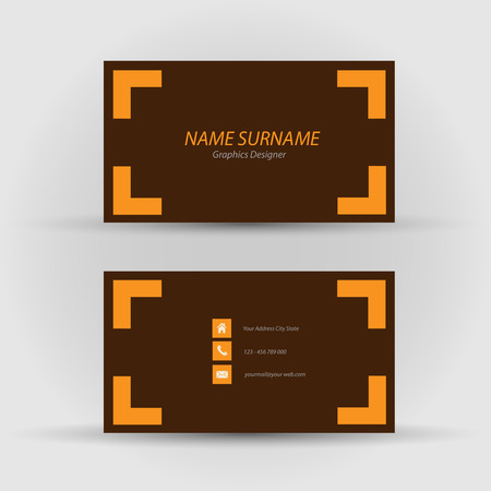 flexible business: Set of modern business card template - front and back side