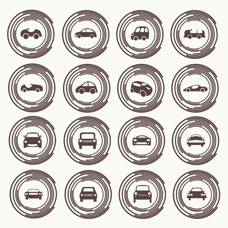 Cars icons set different vector car forms. Web icons. Stock Vector - 29291767