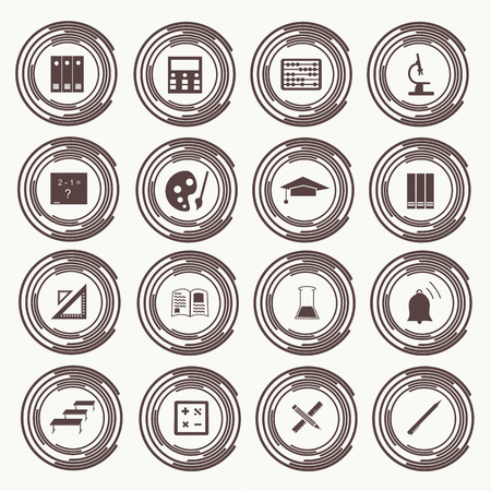 Vector seamless pattern with education icons - abstract. Vector Vector