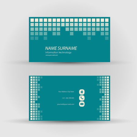 textfield: Set of modern business card template - front and mack side