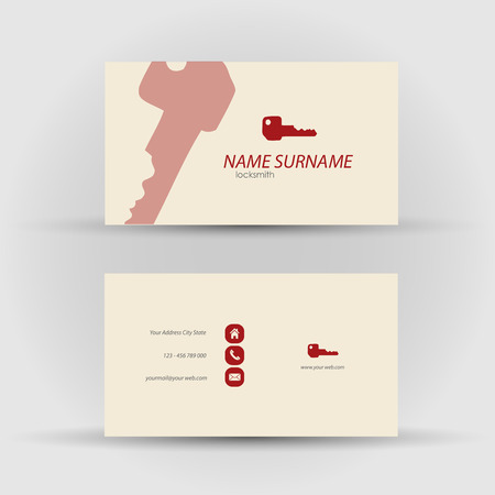 textfield: Set of modern vector business card template - front and mack side Illustration