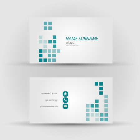 mack: Set of modern vector business card template - front and mack side Illustration
