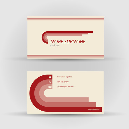 textfield: Set of modern vector business card template