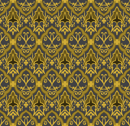 Gold royal pattern. Seamless vector background