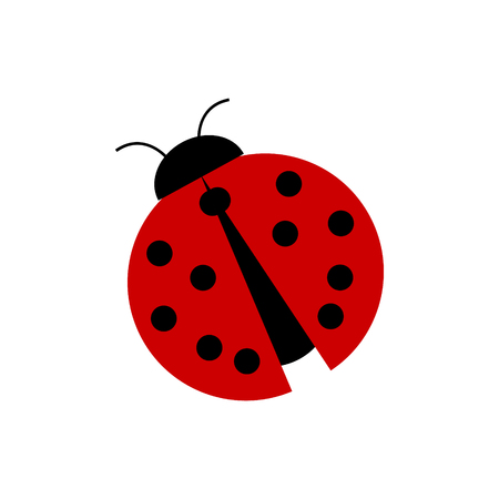 Simple vector red ladybug Ilustrace