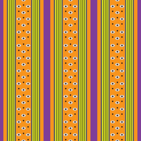 Retro Colored Seamless Pattern with Vertical Stripes