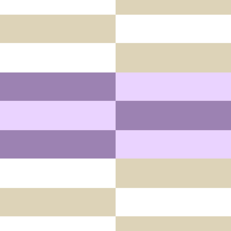 Retro Pastel Colored Seamless Pattern with Horizontal Stripes