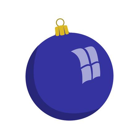 Christmas ball, vector illustration, flat style 矢量图像