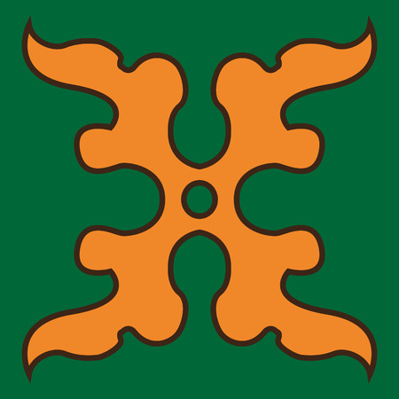 El símbolo del arte del diseño decorativo mural marroquí. Baldosas cerámicas. Patrón de patchwork de colección. Perfecto para imprimir sobre tela, baldosas de cerámica o papel. Ilustración de vector colorido.