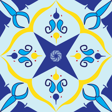 Colorful royal pattern. The Seamless vector background