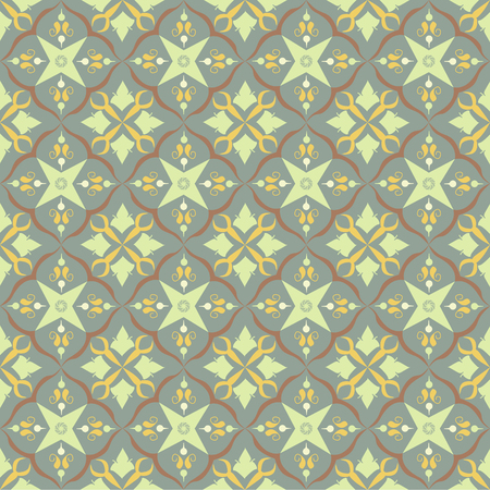 Beige royal pattern. The Seamless vector background