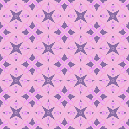 Pink royal pattern. The Seamless vector background