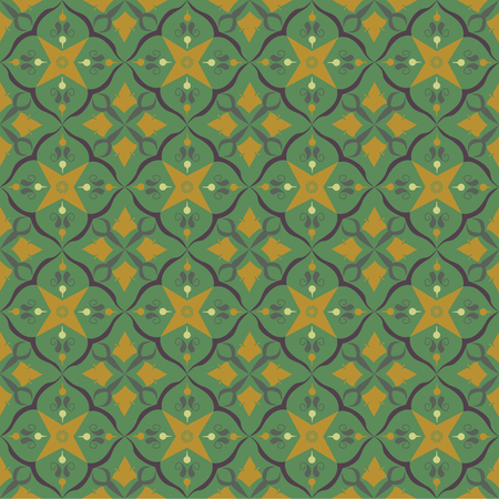 Green royal pattern. The Seamless vector background