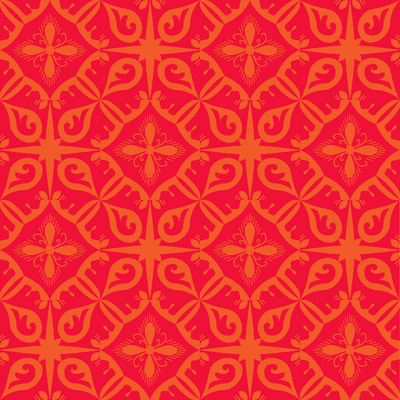 Red royal pattern. The Seamless vector background