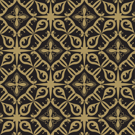 Gray and beige royal pattern. The Seamless vector background