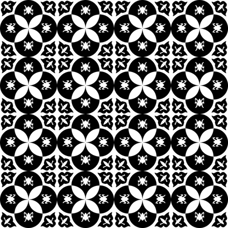 Pattern with royal symbols upside down. Seamless vector background. Floral ornament. Abstract Tiles. Geometric texture. Repeating background. Ilustração