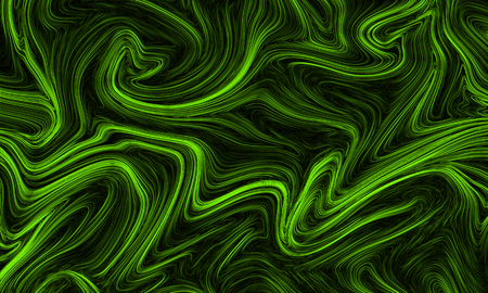 Digital ufo green abstract background with liquify flow Reklamní fotografie