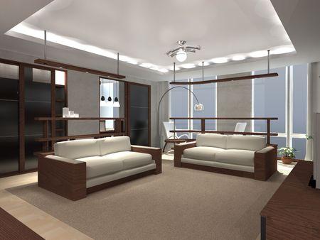 unecht: Wohnzimmer im Geb�ude
