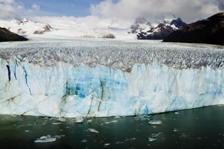 The Perito Moreno Glacier Calving into Lago Argentino, Los Glaciares National Park, El Calafate, Patagonia, Argentina Stock Photo - 17638651