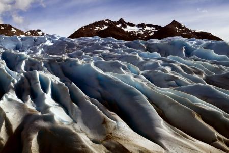 The Perito Moreno Glacier Calving into Lago Argentino, Los Glaciares National Park, El Calafate, Patagonia, Argentina  Stock Photo