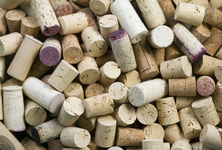 Close-up of group of wine corks Stock Photo