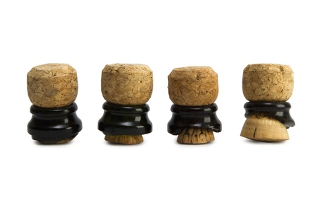 Group of Champagne corks opened with saber  sabrage