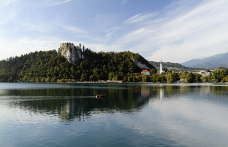 Bled Castle - medieval castle above the city of Bled in Slovenia, overlooking Lake Bled Stock Photo - 18837883