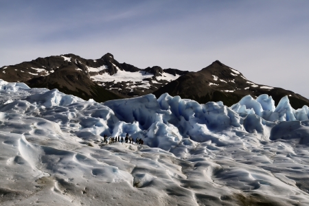 Ice Trekking on the Perito Moreno Glacier, Patagonia, Argentina Stock Photo - 18837882