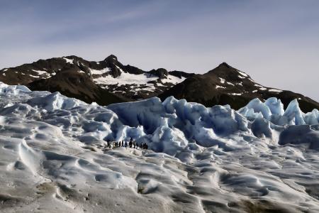 Ice Trekking on the Perito Moreno Glacier, Patagonia, Argentina Stock Photo - 18837882