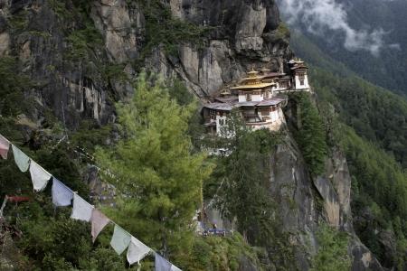 Taktsang Palphug Monastery (The Tigers Nest), Himalayan Buddhist temple  complex, Paro valley, Bhutan Stock Photo