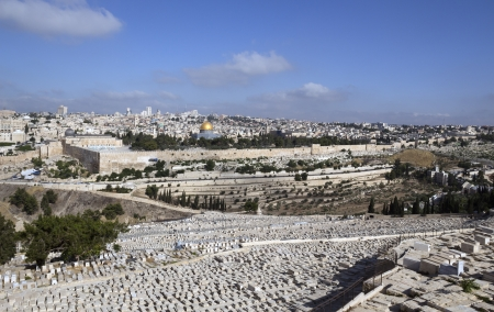 Israel, Jerusalem - view from Mount of Olives photo